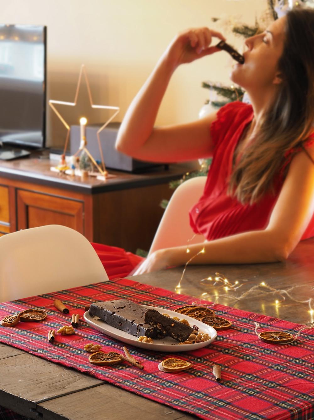 Turrón de chocolate casero sin azúcar6