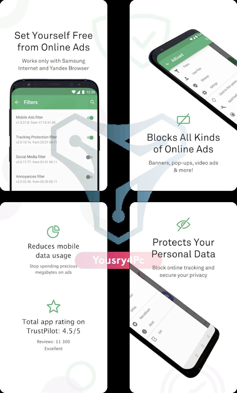 تحميل تطبيق AdGuard Premium أقوي مانع إعلانات للأندرويد