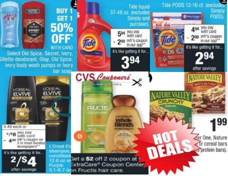 Tide, L'Oreal, Old Spice & Garnier CVS Deals