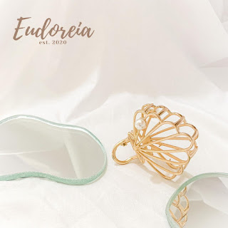 Hair Clip Jepit Rambut Eudoreia Nova Seashell Shape Clip Hairclip