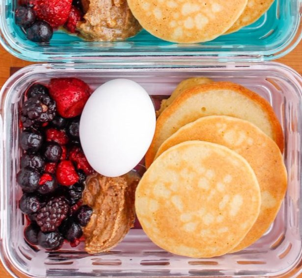 PALEO PANCAKE BREAKFAST MEAL PREP BOWLS #healthy #diet