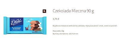 czekolada wedel mleczna 90 g