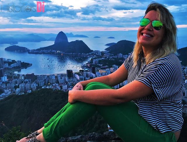 Di apaixonada pela vista do nascer do sol no Mirante Dona Marta
