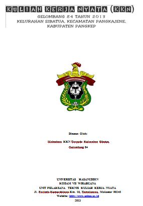 Contoh Cover Proposal Kkn Natal 10