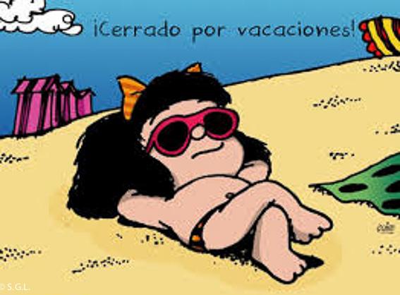 Mafalda y cerrado por vacaciones Blog Anden 27