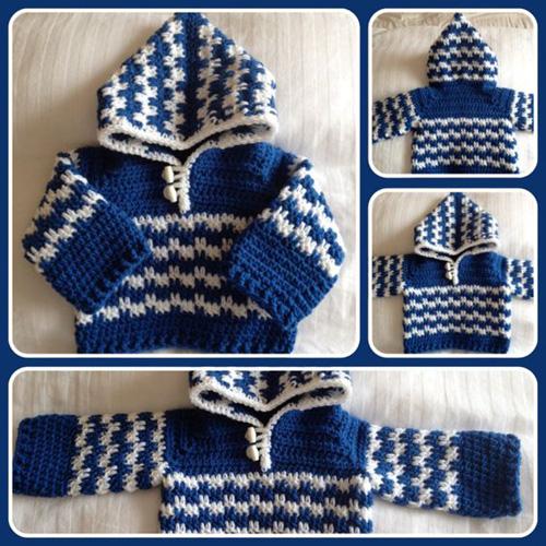 Crochet Baby Hoodie - Free Pattern