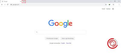 1. Langkah pertama untuk menambah tab di Chrome silakan kalian klik Tambah (+) pada sebelah kanan tab saat ini yang akan muncul tulisan Tab baru