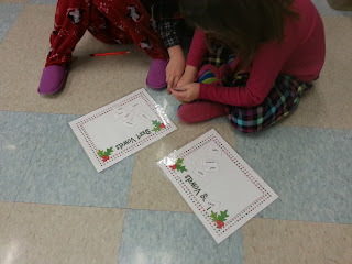 long and short vowels- Holly Jolly Holiday Centers in Action