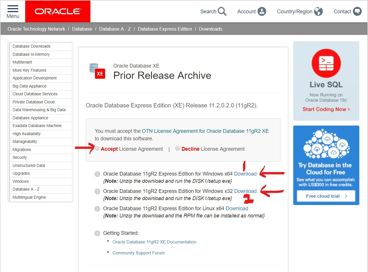 RSR's Blog: Run SQL & PL/SQL Query - Install Oracle Database Express