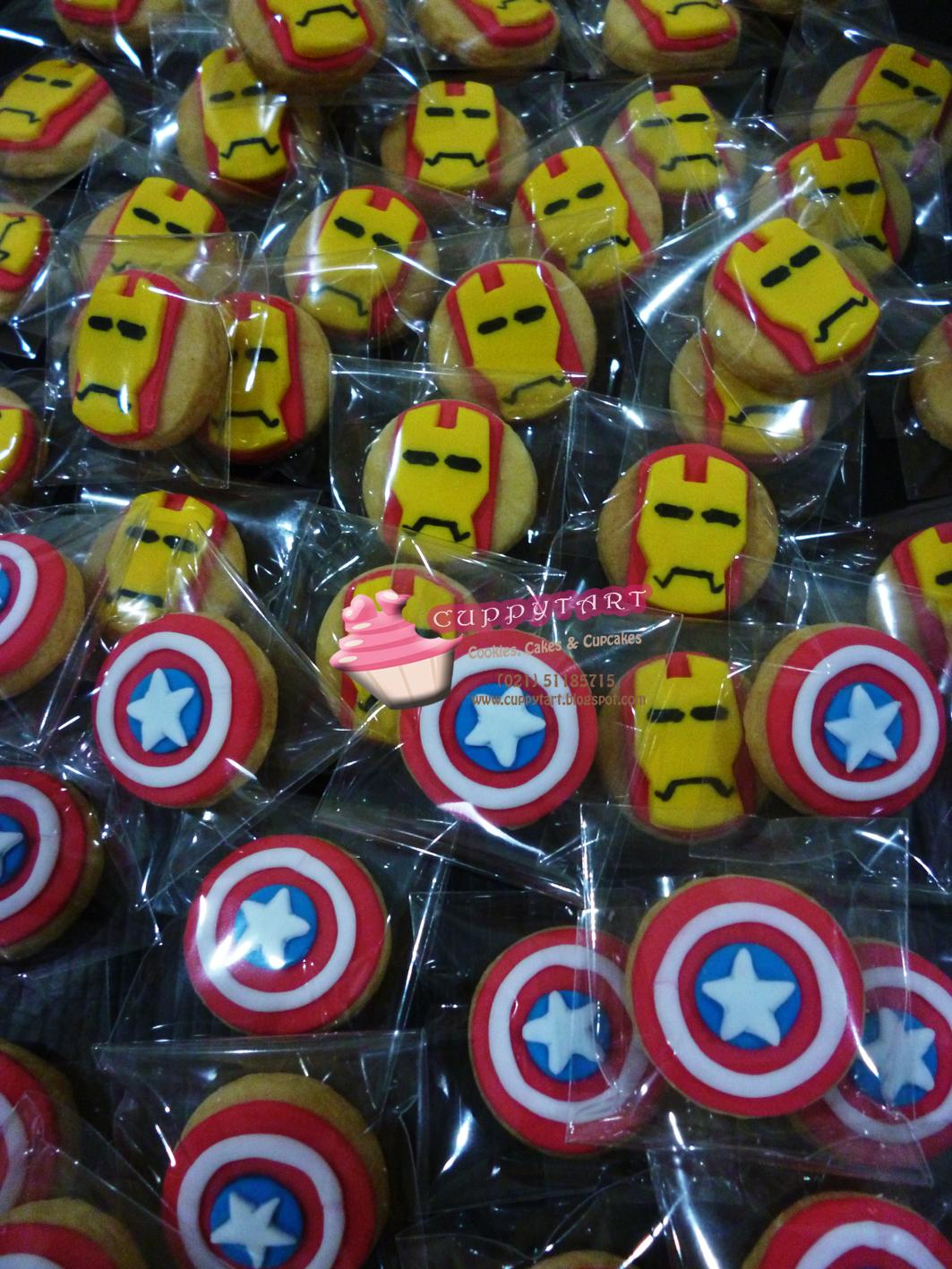 Cuppytart The Avengers Cookies
