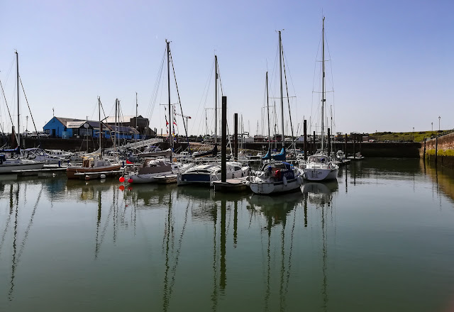 Photo of Marport Marina looking super calm on our return on Friday morning