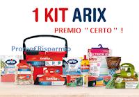 Logo ARIX per te ''Grande concorso 50 anni'' : Kit di prodotti premio certo e non solo!