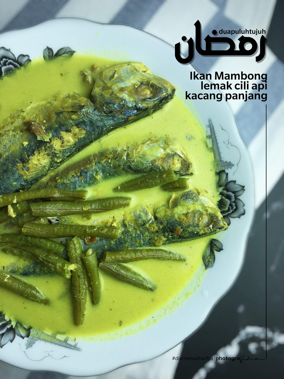 Ikan Mambong Masak Lemak Cili Api Campur Kacang Panjang