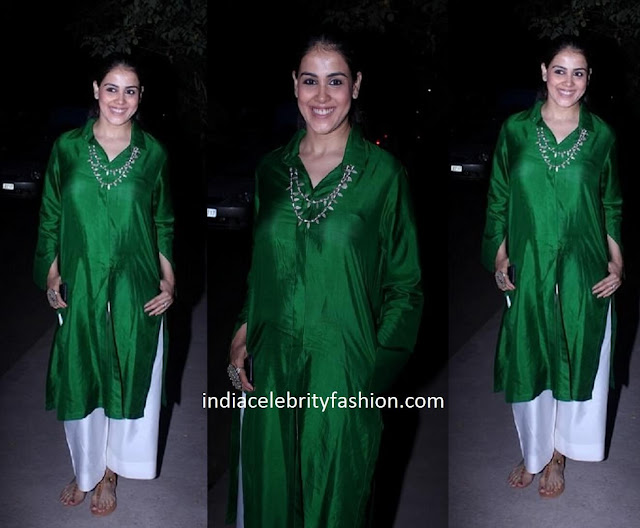 Genelia D'Souza in Payal Khandwala tunic and palazzos