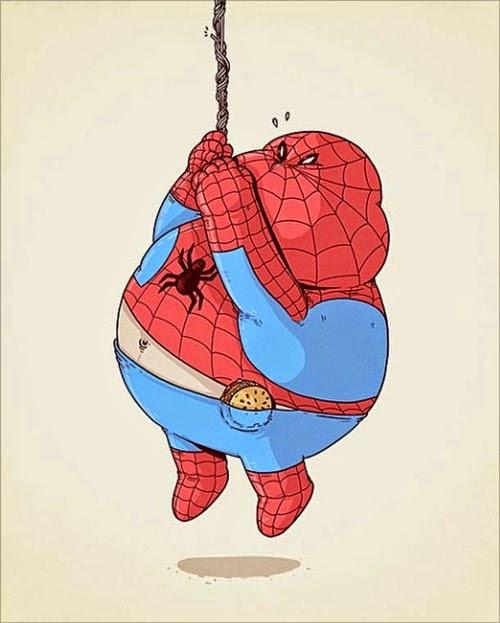Fat Super Hero Gemuk - marvel Fat Spiderman