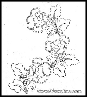 flower vase drawing easy step by step, flower design drawings embroidery.