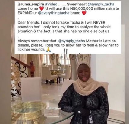 #BBNaija 2019: Jaruma deletes video she made promising to gift Tacha N50million