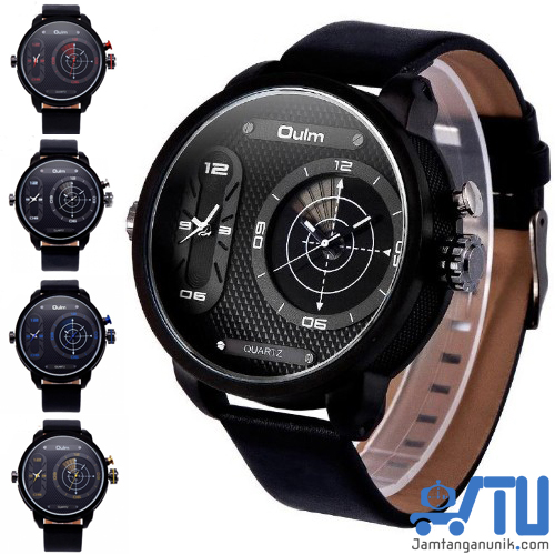 Jam tangan unik OULM radar 3221 double time