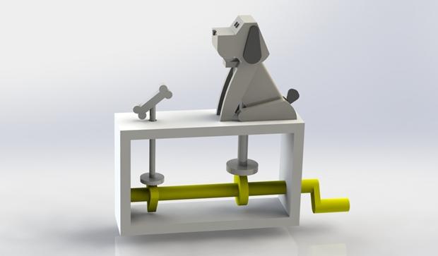 juguete automata diseñado con solidworks