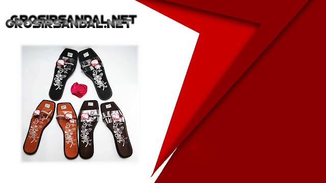 Sandal Slop Mika Motif-Permata Wanita Dewasa || Grosir Sandal Terlengkap