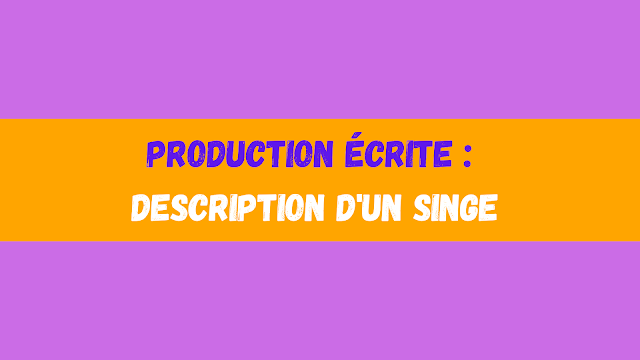 Production écrite : description d'un singe