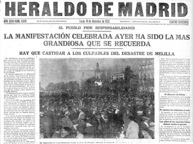 Portada del diario Heraldo de Madrid del 11-12-1922
