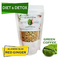 Green Coffee 21x Minum - Alamon SLIM - Herbal Pelangsing