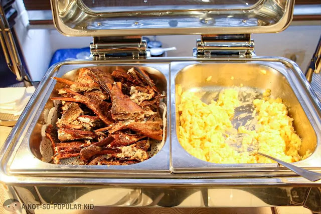 Daing na bangus and scrambled egg of Bayview Park Hotel