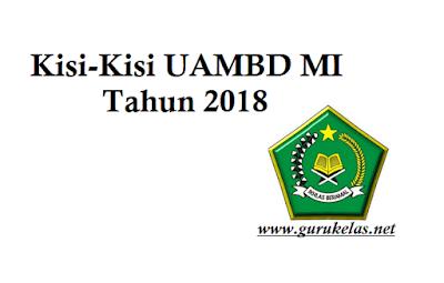 Kisi-Kisi UAMBD Tahun pelajaran 2017-2018