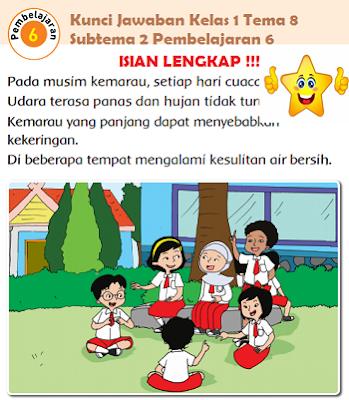 Kunci Jawaban Kelas 1 Tema 8 Subtema 2 Pembelajaran 6 www.jokowidodo-marufamin.com