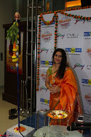 Marath Actrss Urmila Kanitkar Celetes Gudi Padwa in Orange Saree 15.JPG