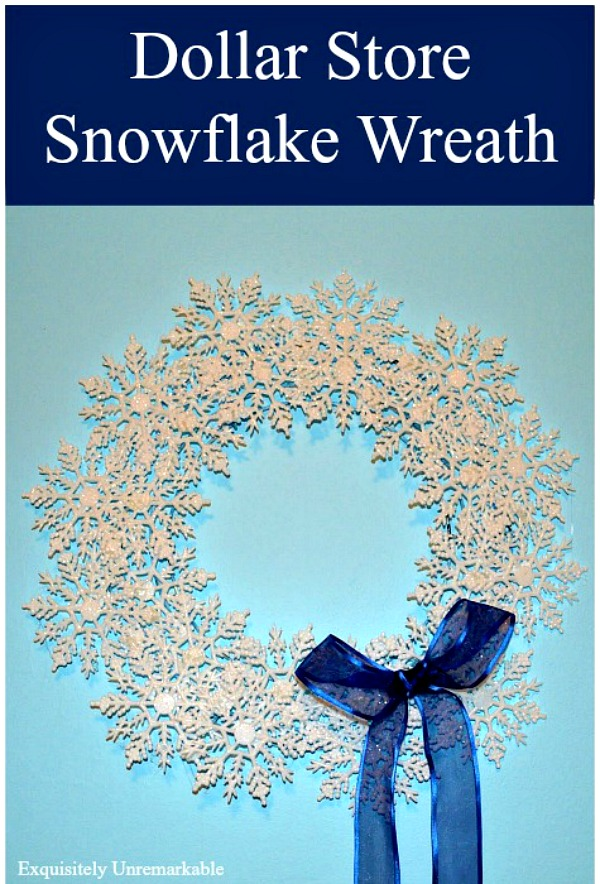 Dollar Store Snowflake Wreath DIY Craft