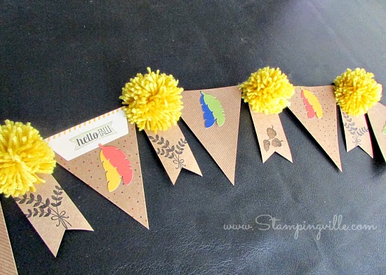 Easy Fall Banner using Paper Pumpkin Kit by Stampin' Up! #papercrafts #StampinUp #paperpumpkin