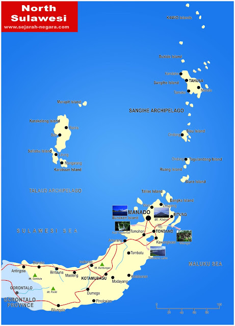 image: North Sulawesi map high resolution