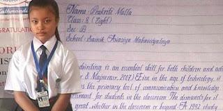 Viral, Tulisan Tangan Bocah 8 Tahun Ini Tercantik di Dunia, Mirip Ketikan Komputer