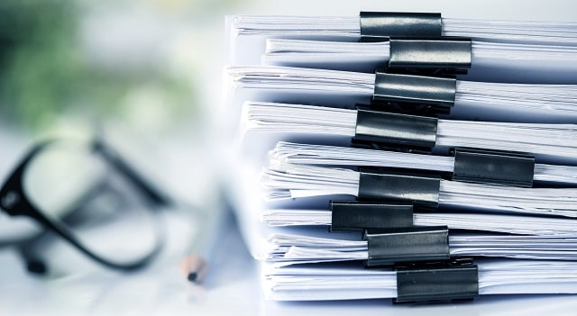 types of business documents start company files