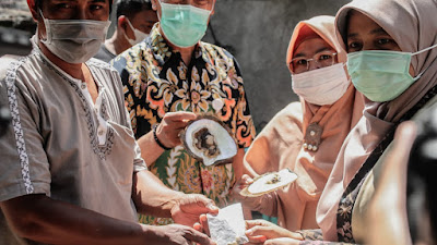 Berkunjung ke  BPBPP, Ketua Dekranasda NTB Dukung Pengembangan Mutiara Lombok