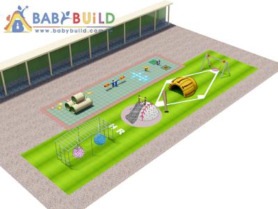 BabyBuild 棒球主題遊戲場設計彩圖