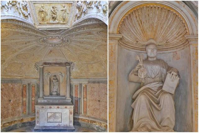 Interior del Tempietto de Bramante en el Gianicolo en Roma