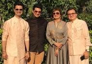 karan mehra with her family