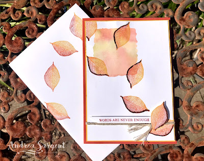 Rooted In Nature Stampin Up card with Stampin Write Markers, Andrea Sargent, Independent, Stampin' Up! Demonstrator, South Australia