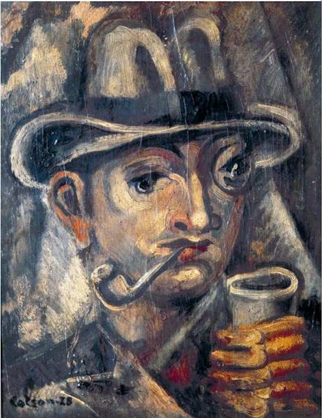 Hombre con pipa (retrato de Tomás Hernández Franco), 1928
