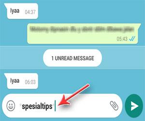 Bentuk Huruf Tebal (Bold) WhatsApp