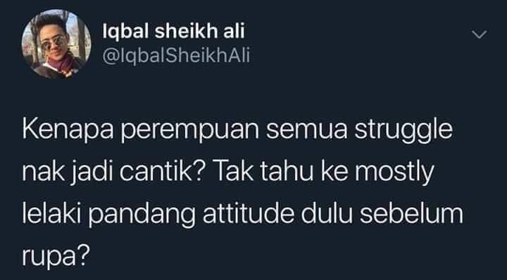 Rupa atau attitude?