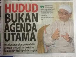 HUDUD bukan lagi keutamaan PAS Terengganu dalam Menifesto PRU 14