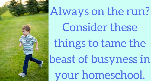Busyness in your homeschool
