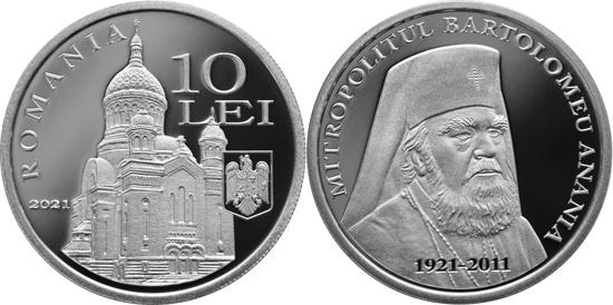 Romania 10 lei 2021 - Bartolomeu Anania