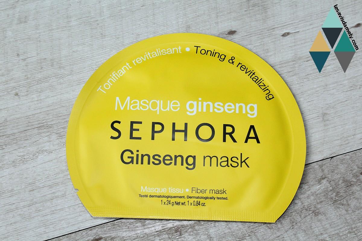 masque ginseng tonifiant et revitalisant avis