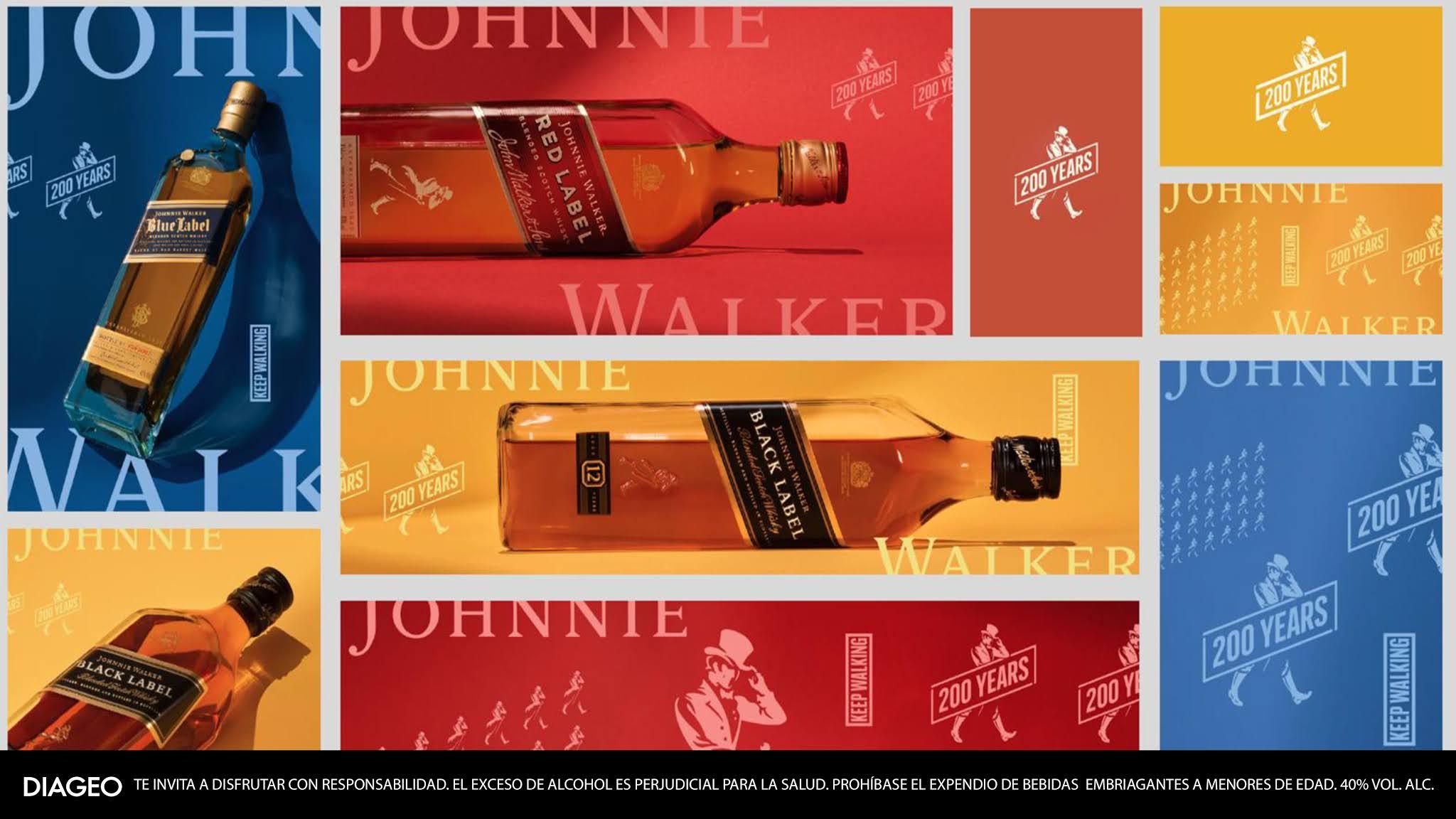 Johnnie Walker cumple 200 años caminando hacia adelante y así será su celebración