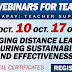 FREE Webinar Series from for Teachers (Oct. 3, 10, 17, 24) Register Here